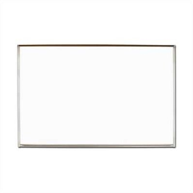 Pro-Rite Map Rail Wall Mounted Magnetic Whiteboard by Marsh