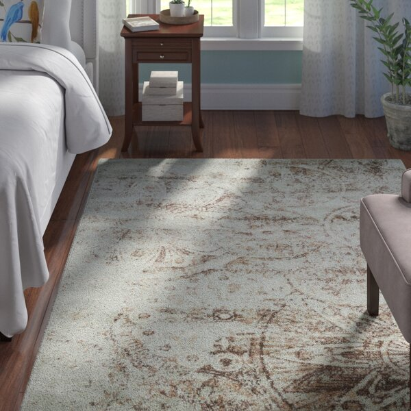 Armand Gray/Light Brown Area Rug by Andover Mills