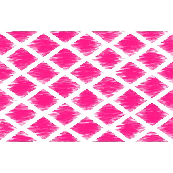Diamonds Pink Area Rug by Manual Woodworkers & Weavers