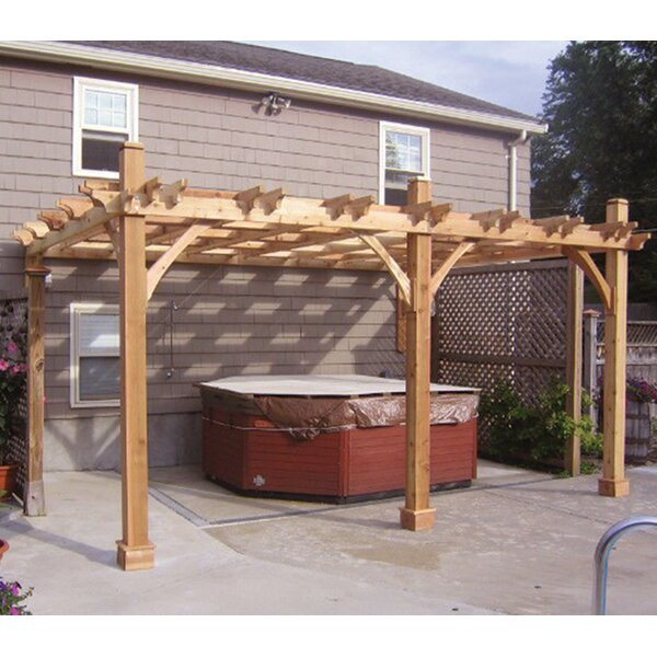 Breeze 13.5 Ft. D Solid Wood Pergola by Outdoor Living Today