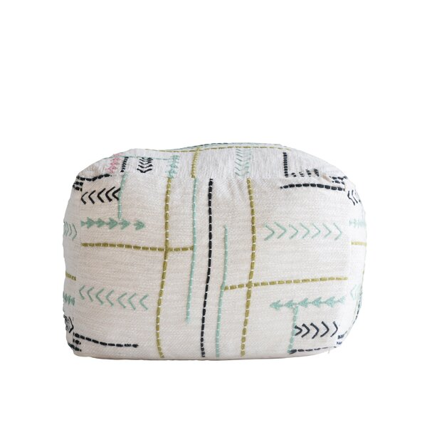 Altom Square Embroidery Pouf by Bungalow Rose