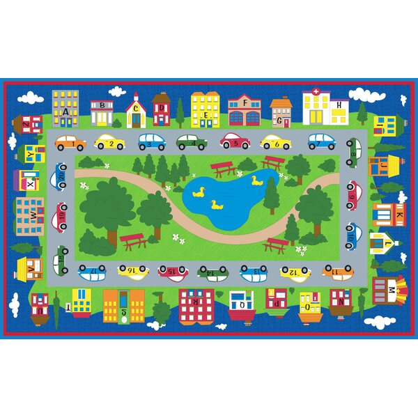 Around Town Road Area Rug by Kid Carpet
