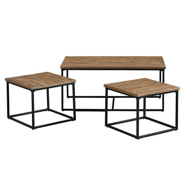 Hempel 3 Piece Coffee Table Set by Union Rustic Union Rustic