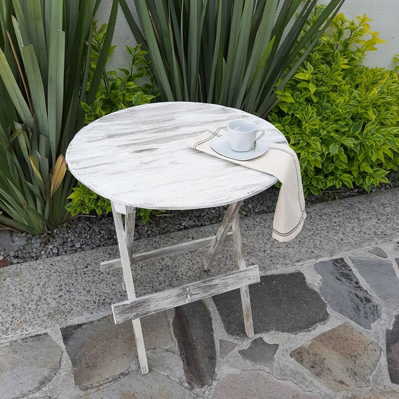 Ophelia Co Mcnamara Folding Wooden Bistro Table Reviews Wayfair