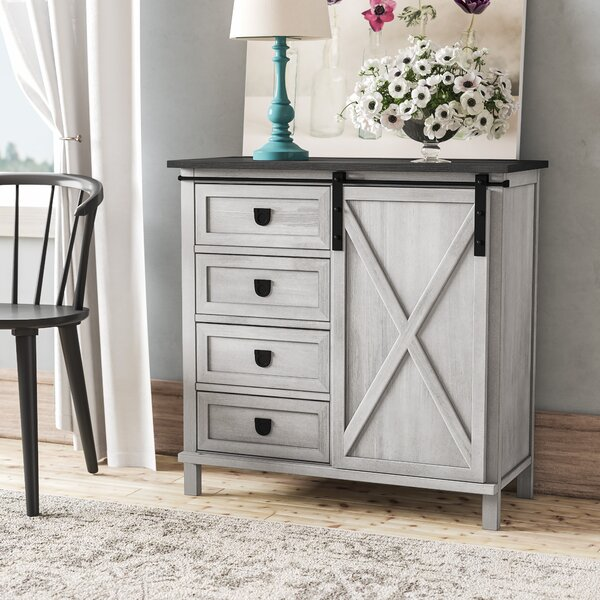 Quade Farmhouse 4 Drawer Accent Cabinet