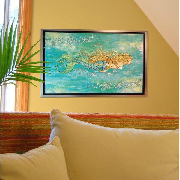 Pearl of the Sea by Lynn McKernan Framed Mermaid Canvas Art by Rightside Design