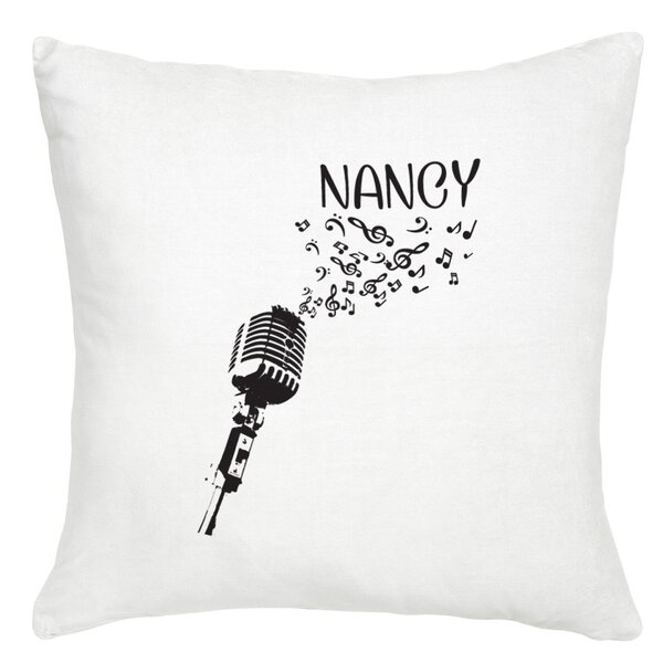 Personalized Microphone Cushion Cover by Monogramonline Inc.