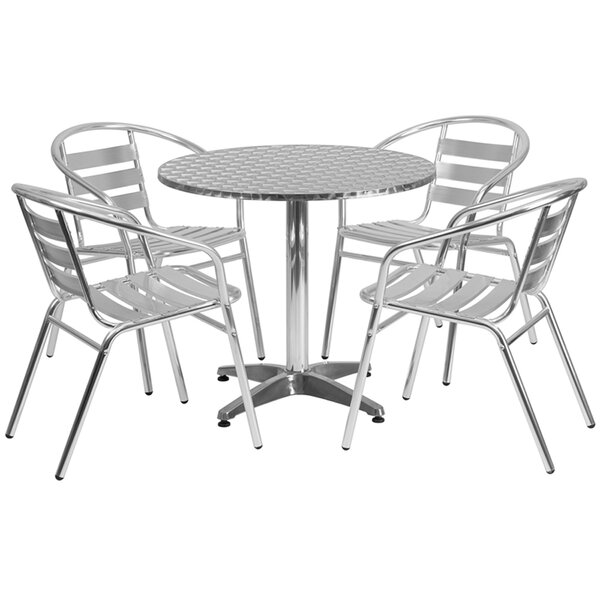Victor Round Indoor Outdoor 5 Piece Bar Height Dining Set by Ebern Designs