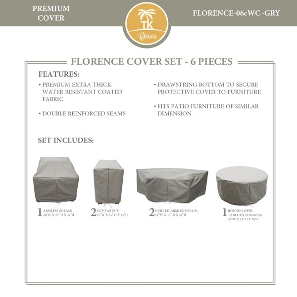 Forence 6 Piece Water Resistant Patio Furniture Cover Set by TK Classics