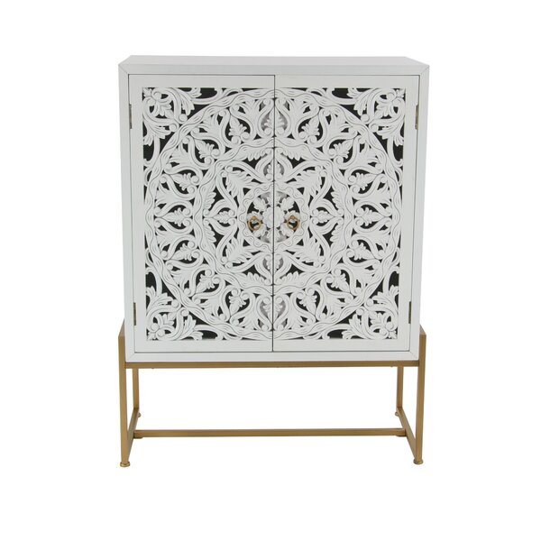 Springhill Traditional Carved 2 Door Accent Cabinet by Bungalow Rose Bungalow Rose