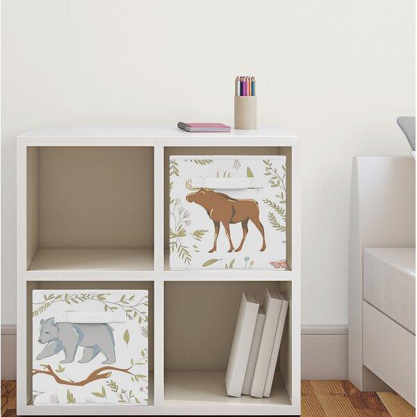Woodland Toile Fabric Storage Cube by Sweet Jojo Designs