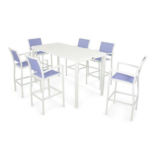 Bayline™ 7 Piece Bar Height Dining Set by POLYWOOD®