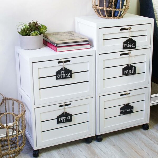 Helvic Crated 2 Drawer Mobile Vertical Filing Cabinet by Gracie Oaks