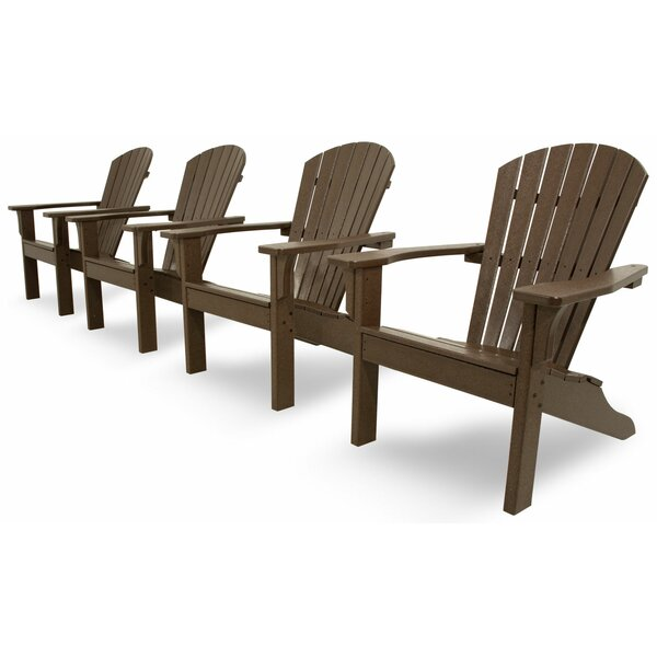 Artisan Shell Back 4-Piece Adirondack Conversation Set by Ivy Terrace