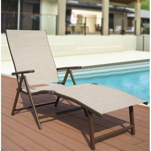 Otterbein Aluminum Reclining Chaise Lounge (Set of 2) by Winston Porter