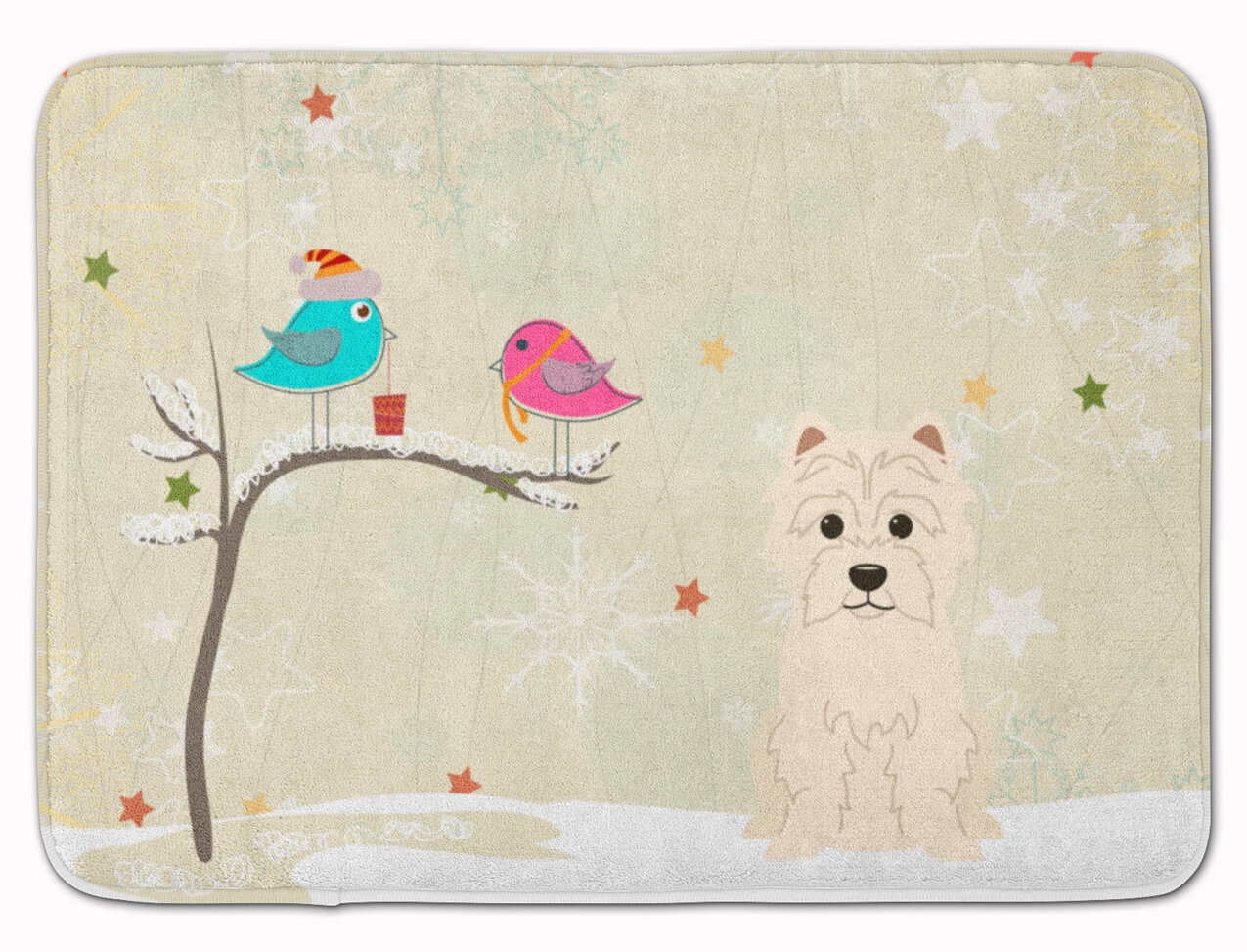 The Holiday Aisle Christmas Presents Friends Westie Memory Foam