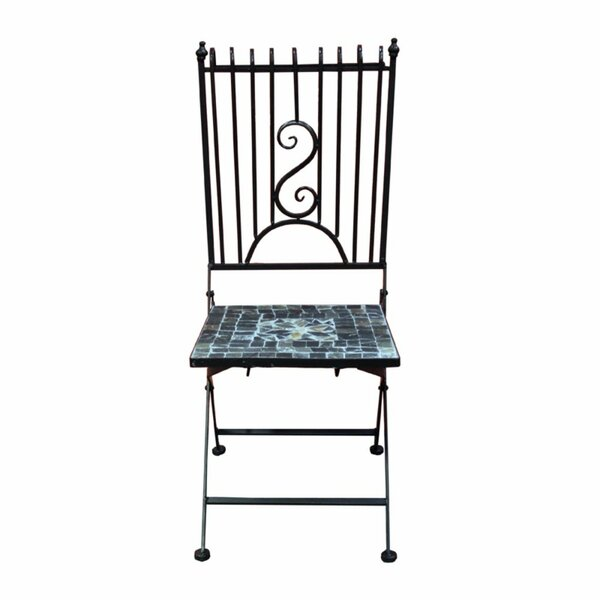 Merrionette Mosaic Metal Patio Dining Chair By August Grove
