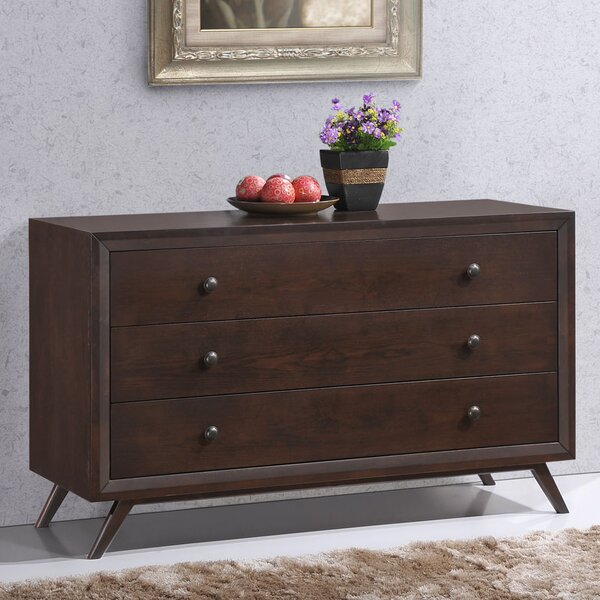 Hannigan 3 Drawer Dresser by Langley Street