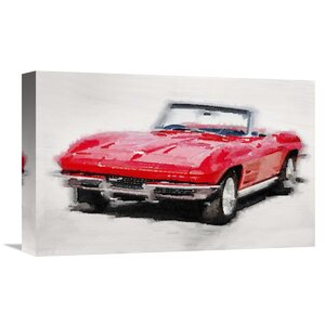 '1964 Corvette Stingray' Painting Print on Wrapped Canvas by Naxart
