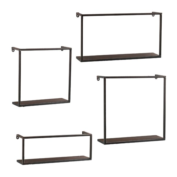 4 Piece Zyther Metal Wall Shelf Set by Holly & Mar