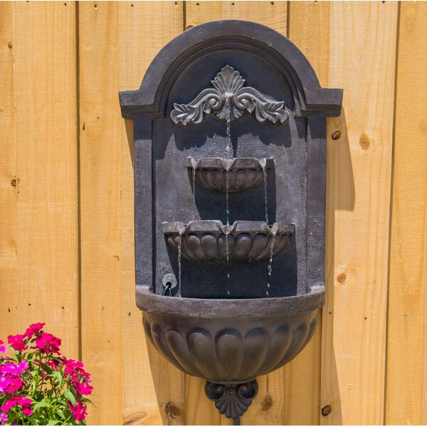 Danica Resin Wall Fountain with Light by Fleur De Lis Living