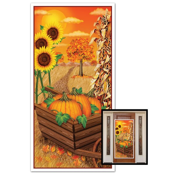 Fall/Thanksgiving Door Cover by The Holiday Aisle