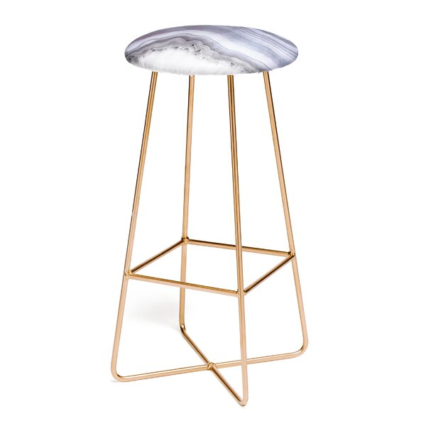 Emanuela Carratoni Winter Agate 31 Bar Stool by East Urban Home