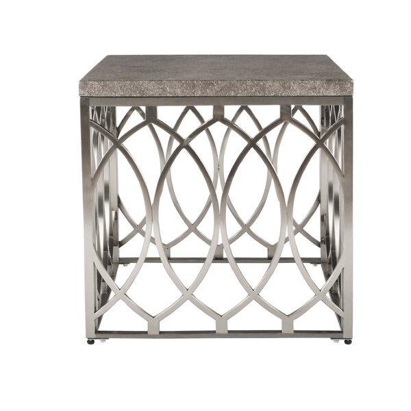 Wirksworth Square Frame End Table By Everly Quinn
