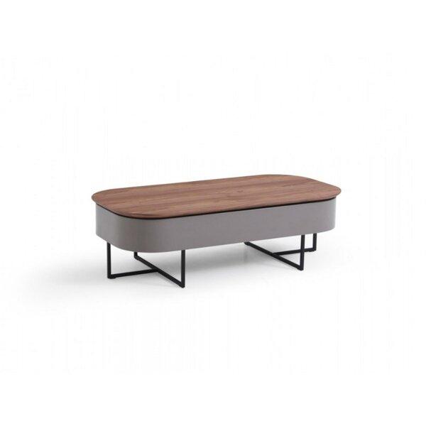 Reta Wood and Metal Lift-Top Coffee Table by Corrigan Studio
