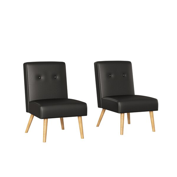 Webster Button Tufted Armless Chairs by Handy Living Handy Living