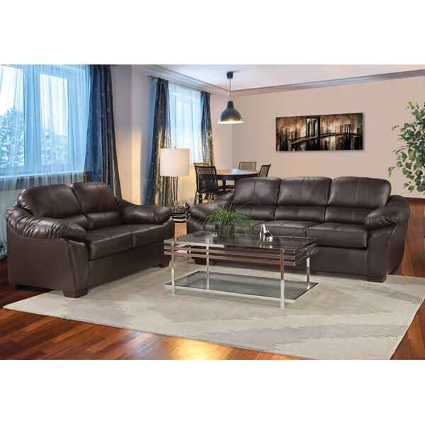 Serta The Pinery Leather Loveseat by Loon Peak