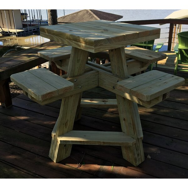 Horace Solid Wood Bar Table by Loon Peak