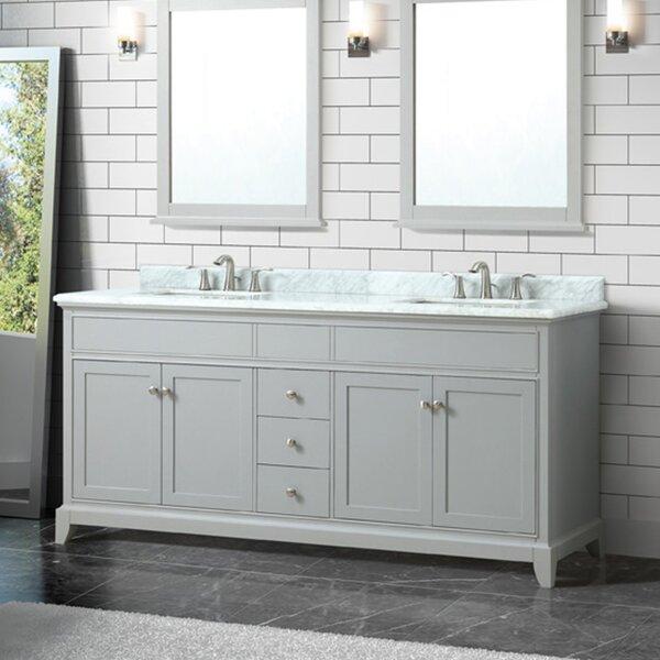 Bhushan Marble Top 73 Double Bathroom Vanity Set