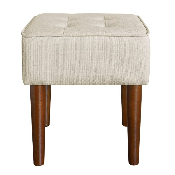 Aria Square Tufted Vanity Stool by Elle Decor