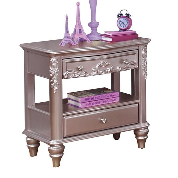 Gannon 2 Drawer Nightstand by Rosdorf Park