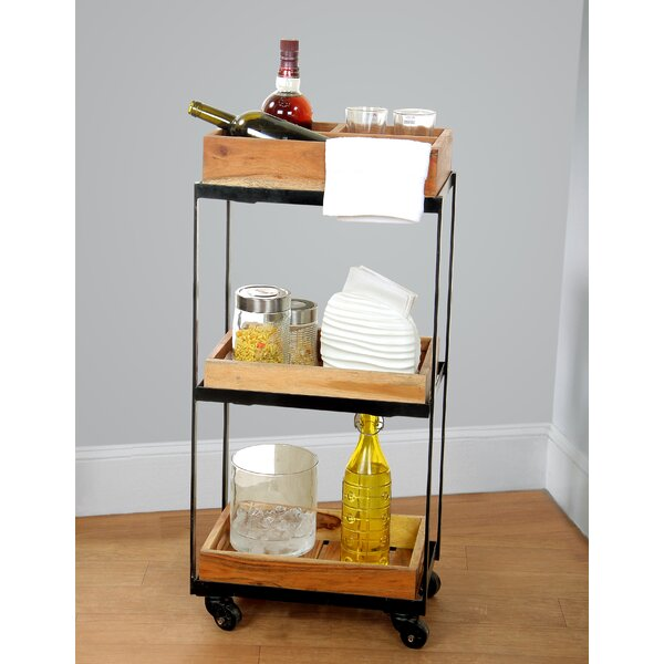 Alani 3 Tier Rolling Utility Bar Cart by Williston Forge