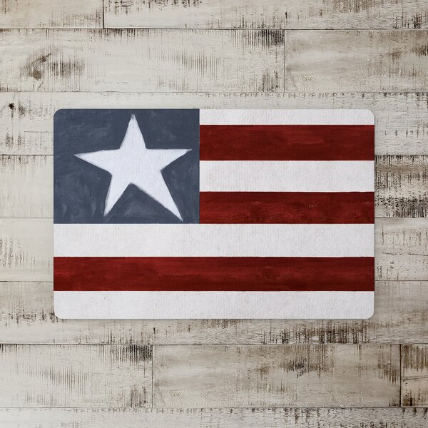 Neff Primitive American Flag Kitchen Mat