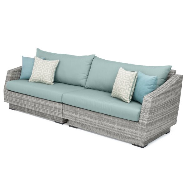 Castelli Patio Sofa With Sunbrella Cushions By Wade Logan