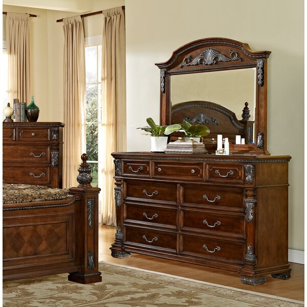 Orleans 9 Drawer Dresser with Mirror by Fairfax Home Collections