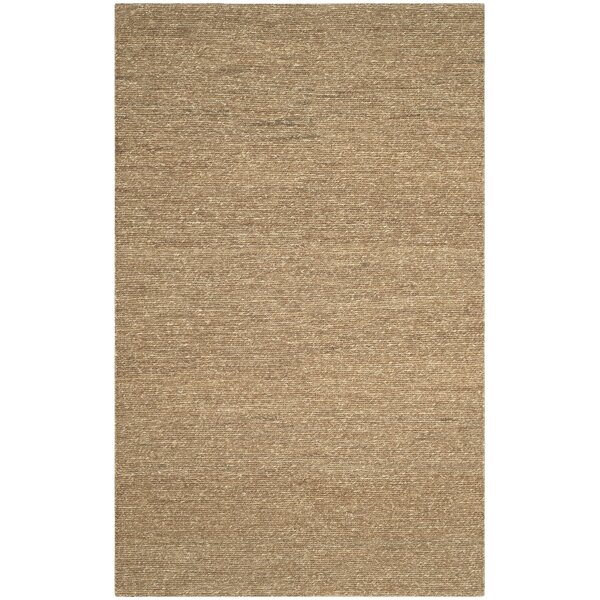 Bristol Fiber Hand-Woven Brown Area Rug by Bay Isle Home