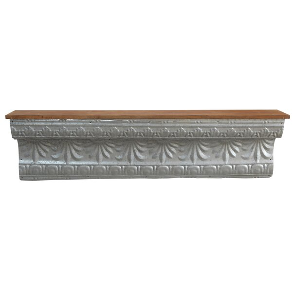 Quintanar Tin and Wood Wall Shelf by One Allium Way