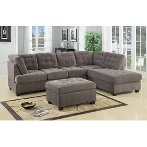 Darianna Waffle Reversible Sectional  sc 1 st  Wayfair : l sectional couch - Sectionals, Sofas & Couches