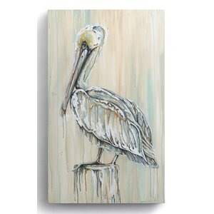 Beyond the Shore 'Pelican' Painting Print on Wrapped Canvas by DEMDACO