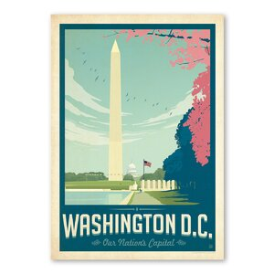 Washington D.C Cherry Blossom Vintage Advertisement by East Urban Home
