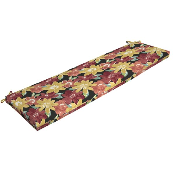 Floral Outdoor Bench Cushion by Red Barrel Studio