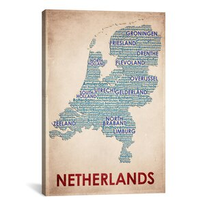 American Flat Netherlands Graphic Art on Wrapped Canvas by iCanvas