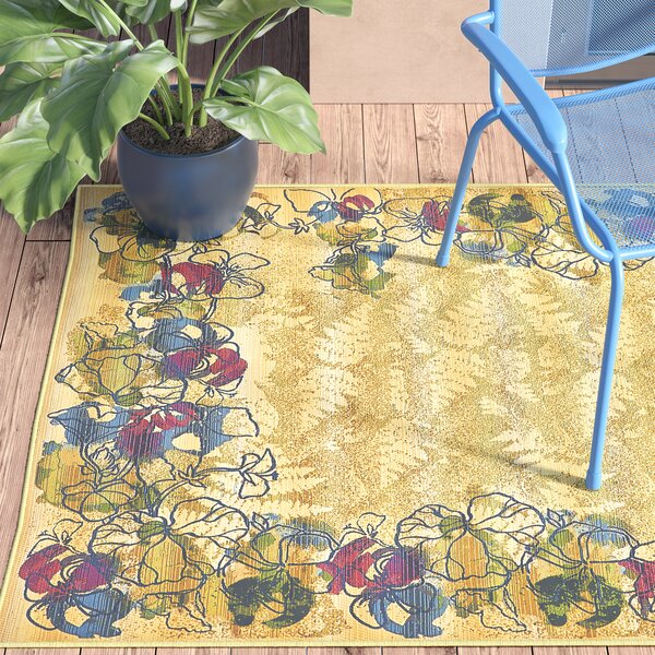 Ronda Pink/Green Indoor/Outdoor Area Rug by Ebern Designs