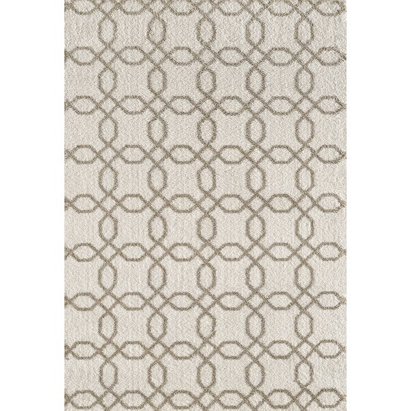 Lowes White/Beige Area Rug by Winston Porter