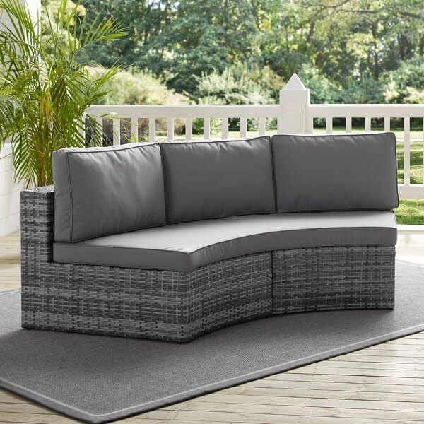 Michal Patio Sofa with Cushions by Highland Dunes Highland Dunes