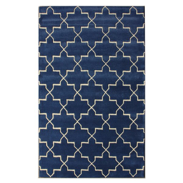 Bella Marrakesh Moroccan Trellis Blue Rain Area Rug by nuLOOM